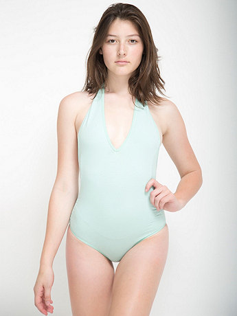 American Apparel - Cotton Spandex Jersey Halter Leotard