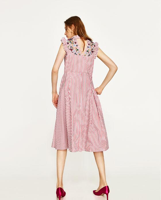 04e6e00f3a STRIPED AND FLORAL SHIRT DRESS - DRESSES-WOMAN ...