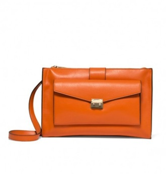 bag orange orange bag handbag benetton