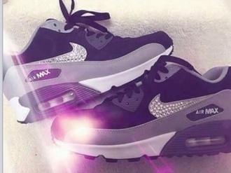 shoes nike air diamonds ribbon fashion nike shoes air max
