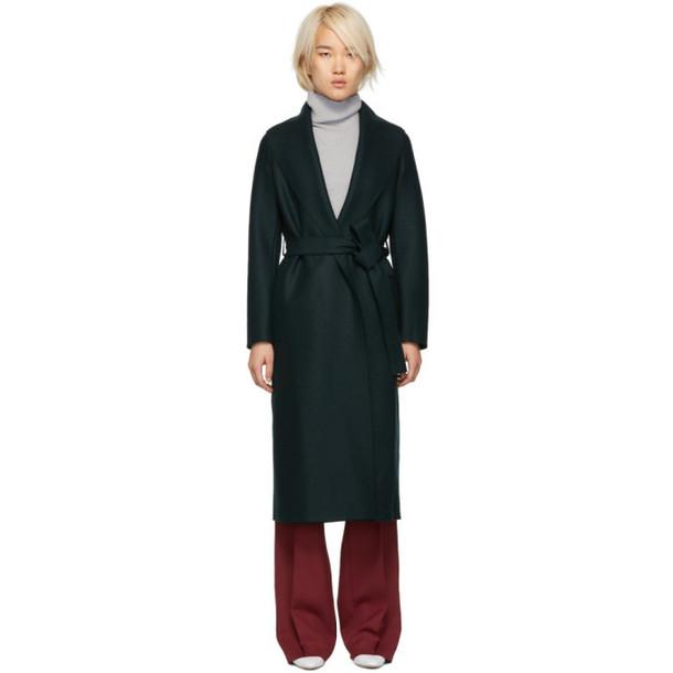 Harris Wharf London Green Wool Dressing Gown Coat