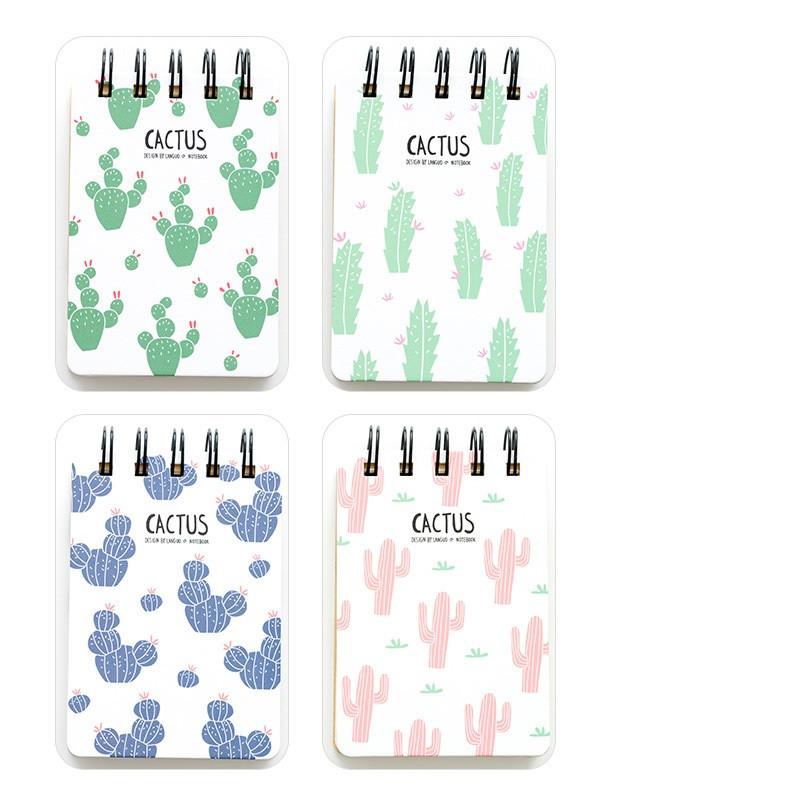 creative cactus series twin loop wire bound memos notebook mini
