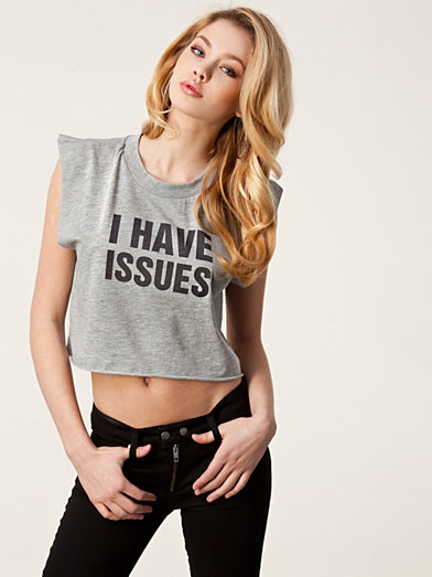 I Have Issues Top - Issue 1.3 - Grey - Tops - Clothing - Women - Nelly.com Uk