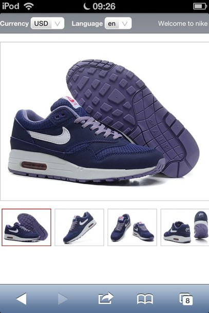 shoes nike air max purple 87 blue
