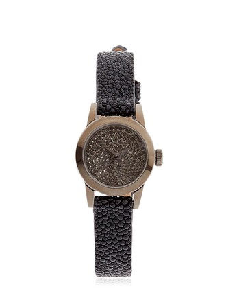 cute diamonds watch black jewels