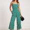 Vintage bloom print - green - playa jumpsuit