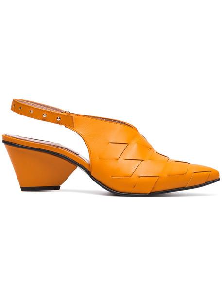 Reike Nen women pumps leather yellow orange shoes