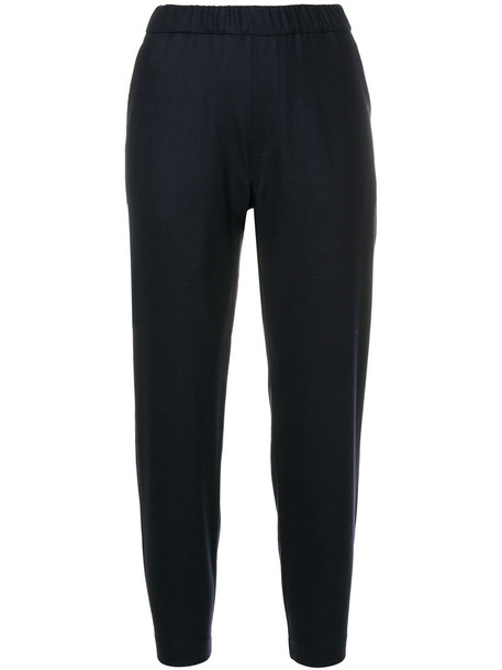 Barena - tapered trousers - women - Cotton/Spandex/Elastane/Virgin Wool - 40, Blue, Cotton/Spandex/Elastane/Virgin Wool