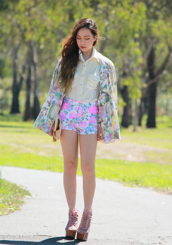 chloe ting jacket shirt shorts bag