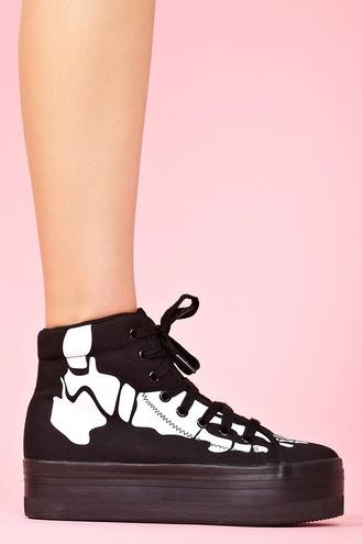 shoes jeffrey campbell platform shoes black black shoes skeleton skeleton shoes swag