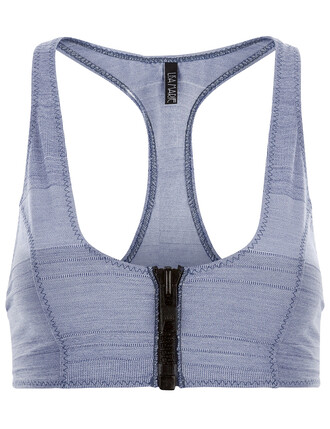 top bra top cotton blue