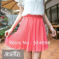 Online Shop Free Shipping Summer new arrival 2013 elegant solid color pleated givlie chiffon short skirt pleated skirt|Aliexpress Mobile