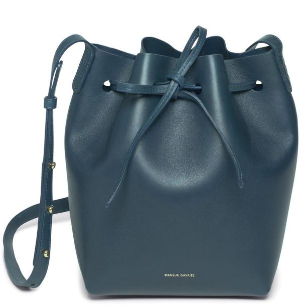 Mansur Gavriel Calf Mini Bucket Bag - Sand