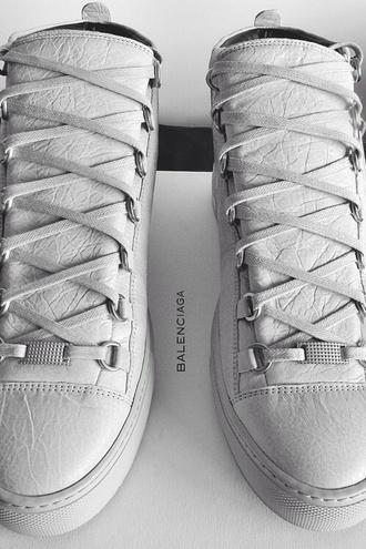 white shoes balenciaga balenciaga arena luxury luxurious paris
