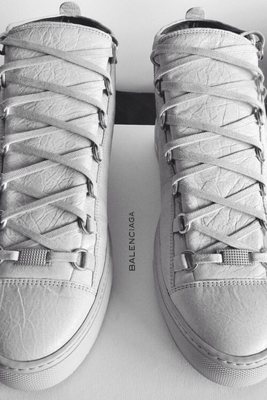 shoes balenciaga white balenciaga arena luxury luxurious paris