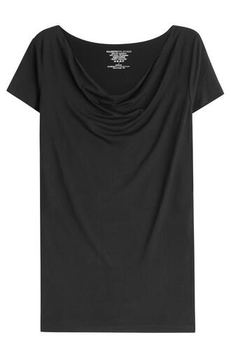 t-shirt shirt draped black top