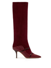 high,suede boots,suede,burgundy,shoes