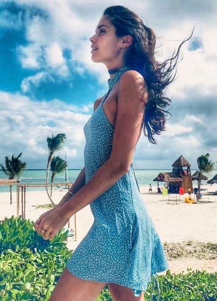 dress summer summer dress mini dress sara sampaio model off-duty instagram