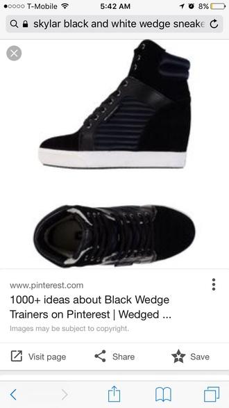 shoes sneakers wedge sneakers black sneakers