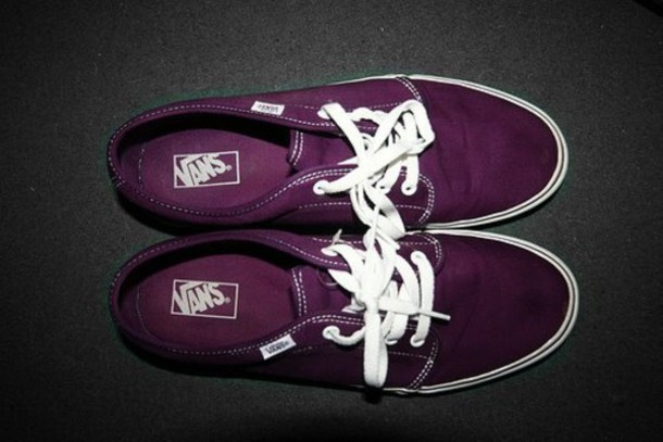 shoes vans purple