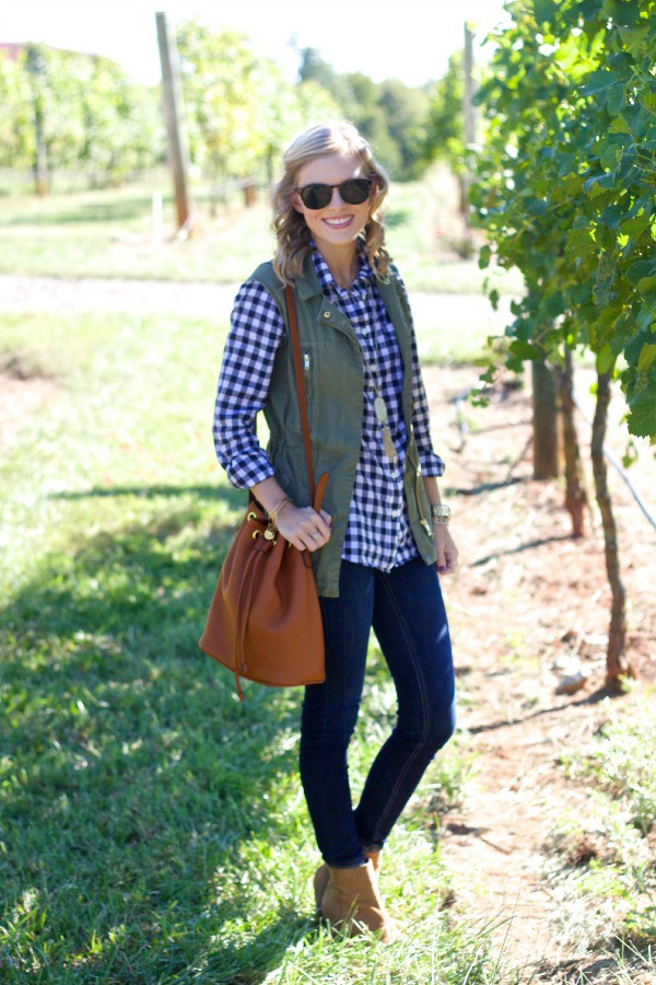 life with emily blogger top jacket jeans bag jewels sunglasses