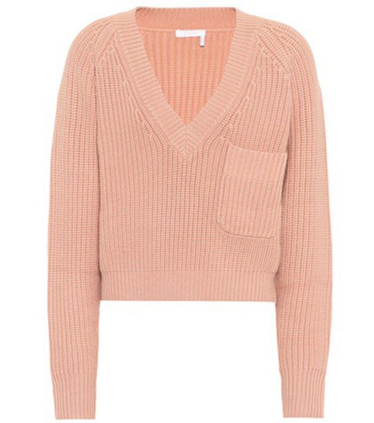 Chloe sweater wool sweater wool pink