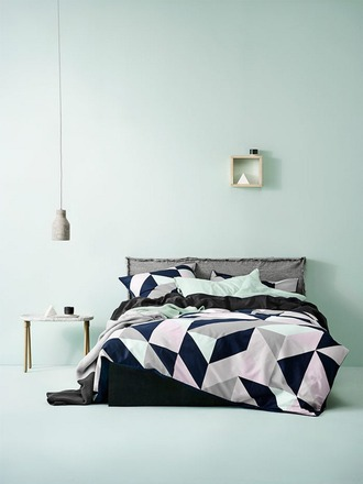 home accessory bedroom bedding geometric pastel