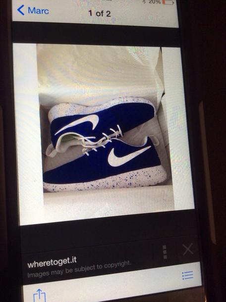 shoes blue nike rosheroshe tennis