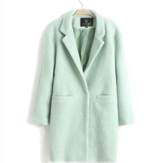 mint coat peacoat dress winter coat winter outfits fashion new york city long coat