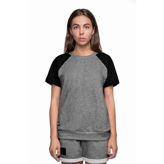 t-shirt grey t-shirt grey graphite basic basic t-shirt womens t-shirt grey shorts
