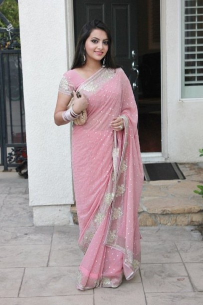 dress pink sari pink dress saree