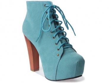 Aqua Blue Lace Up Ankle Boots | Meylah