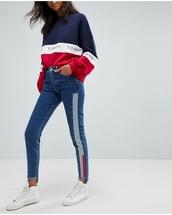 sweater,tommy hilfiger,tommy jeans,jumper,sweatshirt,blue,red,white