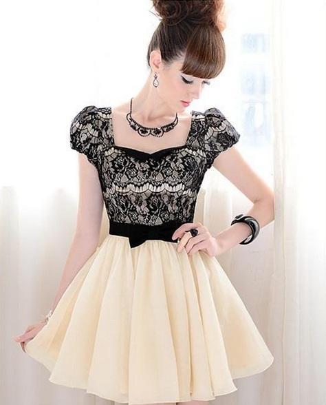 Elegant black lace dress / dopediva