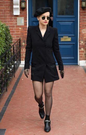 jacket blazer blazer dress rita ora ankle boots