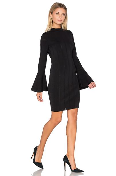 Keepsake dress long sleeve dress knit long black