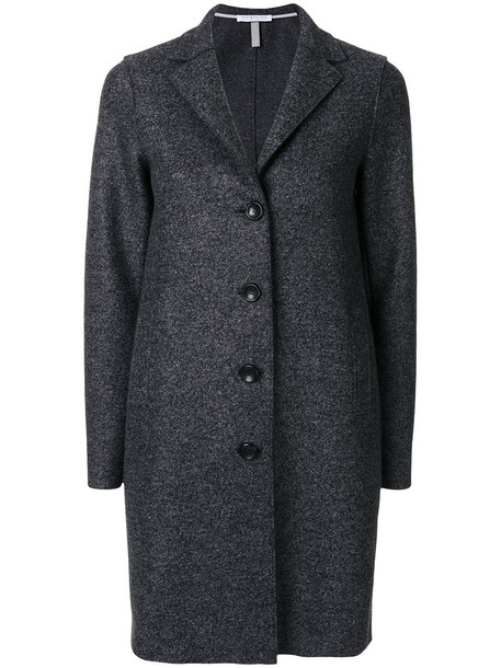 Harris Wharf London - classic coat - women - Cotton - 40, Grey, Cotton