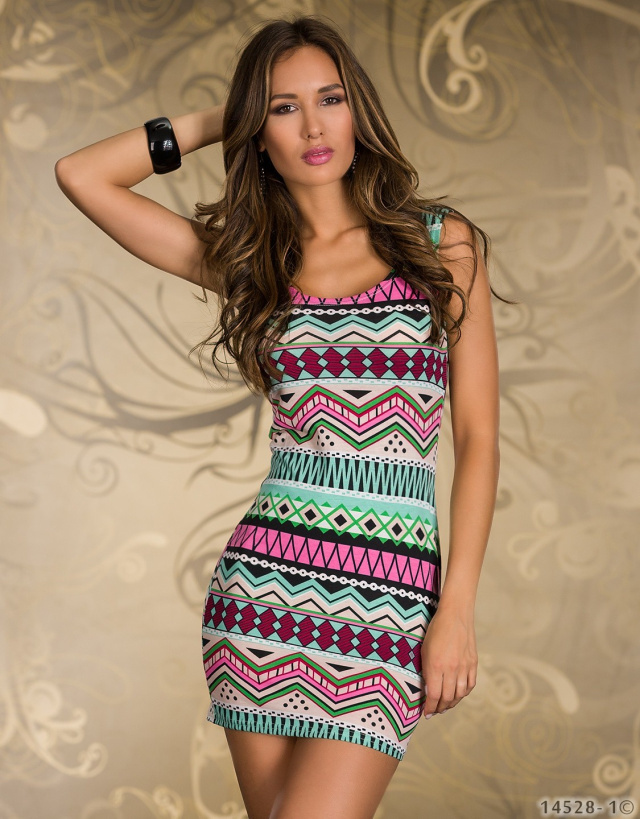 2014 Newest Brand Fashion Vintage Aztec Print Women's Mini Dress Popular Ladies' Casual Bodycon Dresses Free shipping  N115-in Dresses from Apparel & Accessories on Aliexpress.com