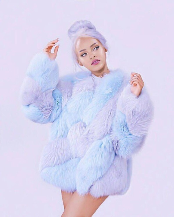 Pastel Fur Coat March 2017