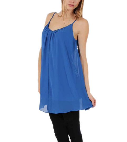 Blue bare back cami dress · candlelight · online store powered by storenvy