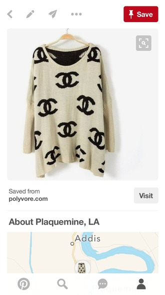 sweater chanel chanel sweater polyvore