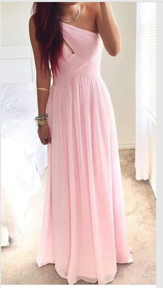 dress pink dress pretty love cute prom dress long prom dress homecoming dress cute dress pink light pink long dress one shoulder one shoulder dress pastel prom baby pink dress light pink dress long pale formal party halter dress lovely black dress ball gown dress baby pink prom dress bridesmaid chiffon bridesmaid dress pink bridesmaid dress