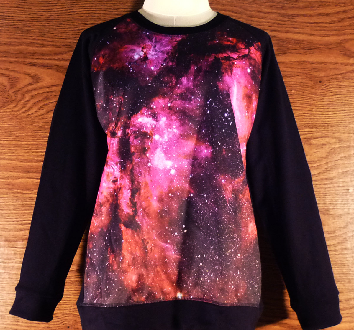 Sky galaxy shirt sweatshirt winter cold ladies fashion size m/ l long sleeve crew neck jumper galaxy sweaters red pink shirt cool women tee