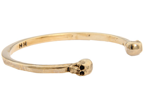 House of harlow 1960 skull end cuff 14k yellow gold plated