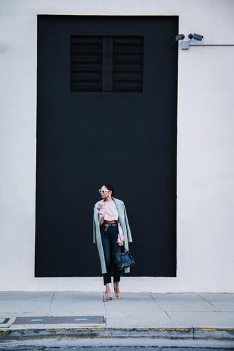 stuffshelikes blogger jeans coat shoes bag top