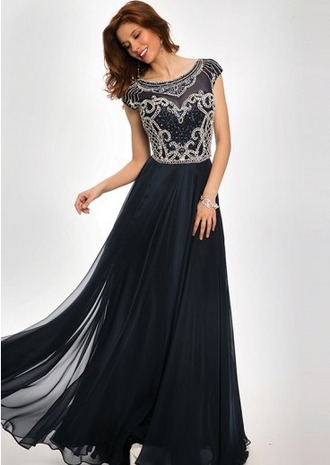 dress prom dress this blue navy chiffon where did u get that