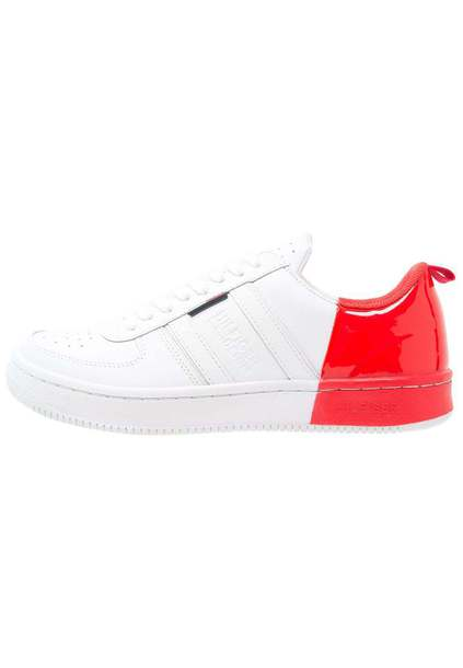shoes white tomato red denim trainers tommy hilfiger sneakers