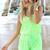 Green Jump Suits/Rompers - Neon Green Crochet-Look Playsuit with | UsTrendy