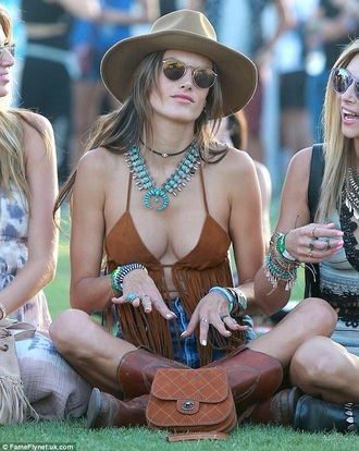 coachella tassel fashion alessandra ambrosio fringes shoes festival