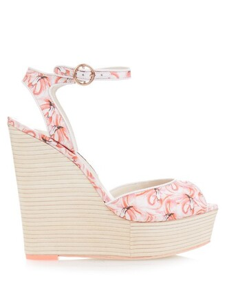 flamingo sandals wedge sandals pink shoes